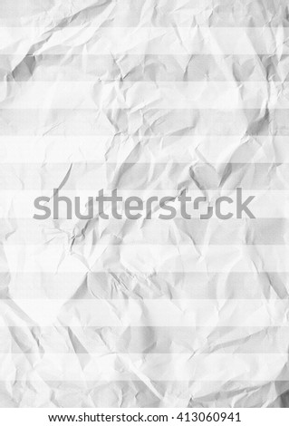 White crumpled horizontal striped paper texture