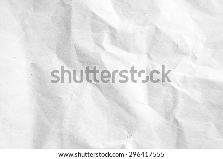 White crumpled paper for background
