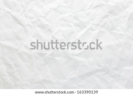 White crumpled paper for background image - stock photo