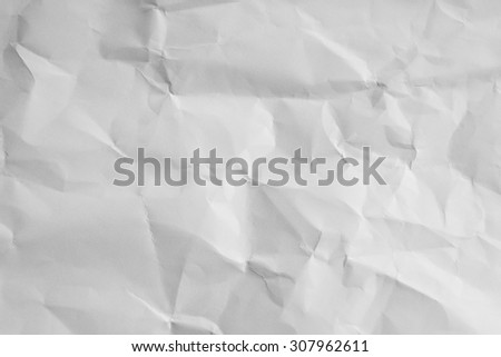 White crumpled paper for backgrounds. - stock photo