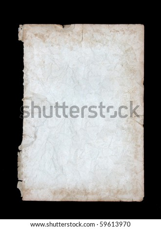 White crumpled paper on black