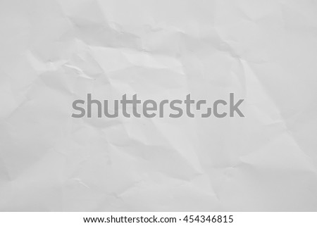 White crumpled paper texture background.rough folded backdrop.creased wallpaper concept.roll up creased horizontal surface carton craft plain wall:wrinkle/crinkle sheet concept:recycle paper handmade. - stock photo