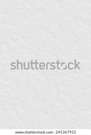 White crumpled paper texture. Digitally generated 3D texture of the white creased paper. - stock photo