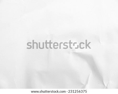white crumpled paper texture for background - stock photo