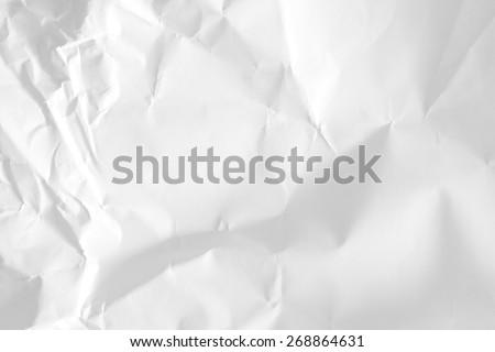 White Crumpled Paper./ White Crumpled Paper - stock photo