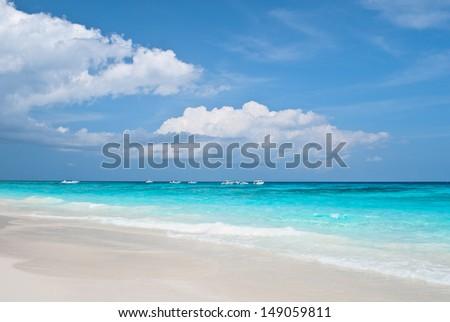 White crystal beach at Tachai Island, Thailand - stock photo