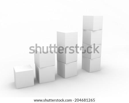 White cubes - stock photo