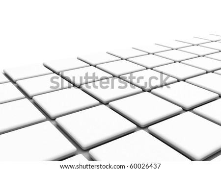 white cubes abstract illustration - stock photo