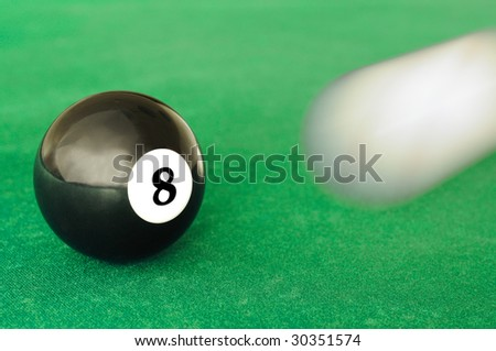 white cue ball is going to hit the black  eight ball