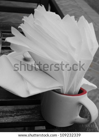 White cup. - stock photo