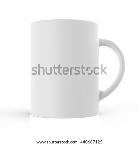White cup 3D render