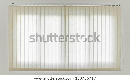 White Curtain and Window - stock photo