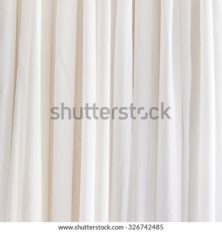 White curtain background for design - stock photo