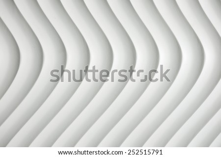 White curve texture with shade and shadow - stock photo