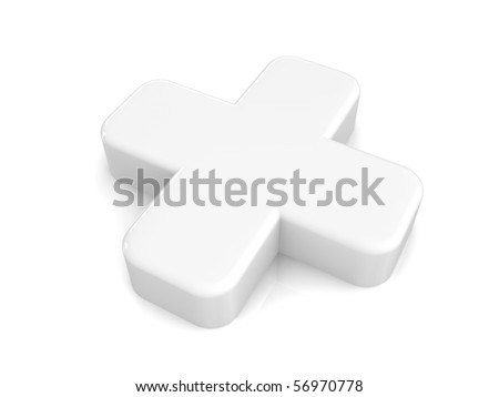 white 3d medical cross
