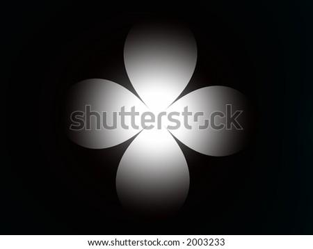 white dan dark fractal - stock photo