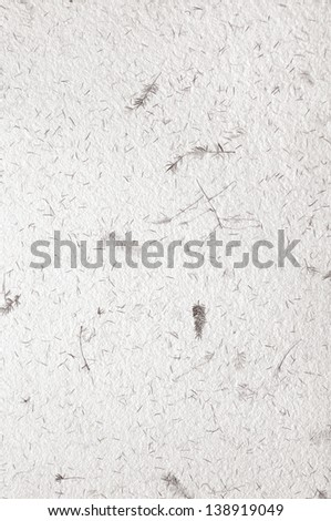 white, decorative handmade paper texture with floral pattern - stock photo
