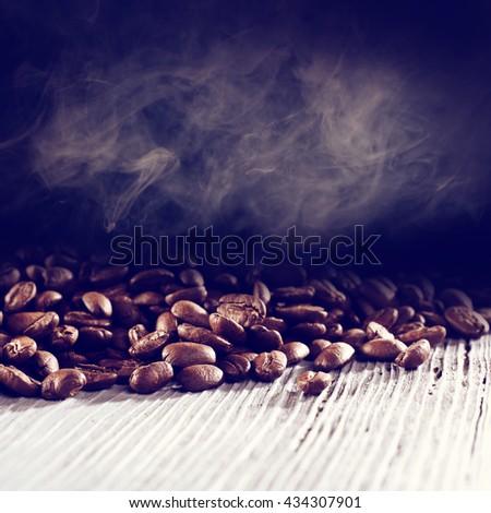 white desk and coffee  - stock photo