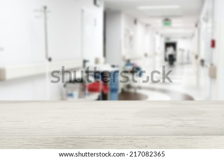 white desk in hospital  - stock photo