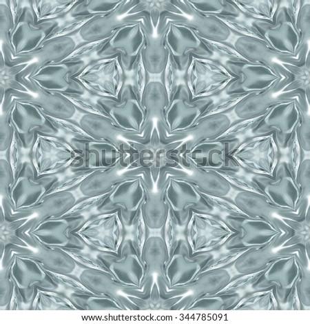 White diamant seamless pattern - digitally rendered abstract fractal kaleidoscopic background - stock photo