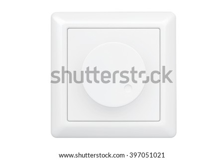 white dimmer light switch on a white background - Dimmer Light Switch