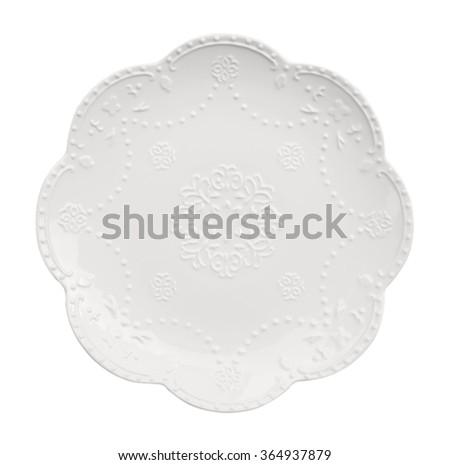 White dinner plate - stock photo