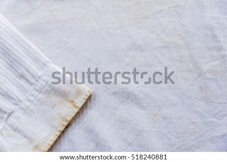 White dirty shirt texture closeup, background use.