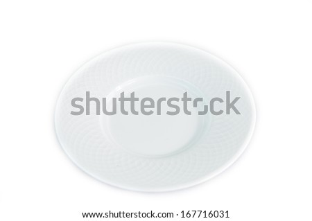 White dish isolate