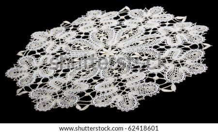 white doily with lace - stock photo