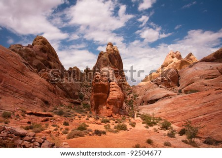White Domes at the Valley of Fire State Park