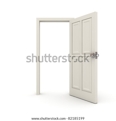 White Door - stock photo