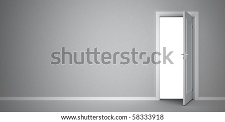 White door open