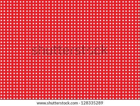 White Dots on a Red Background
