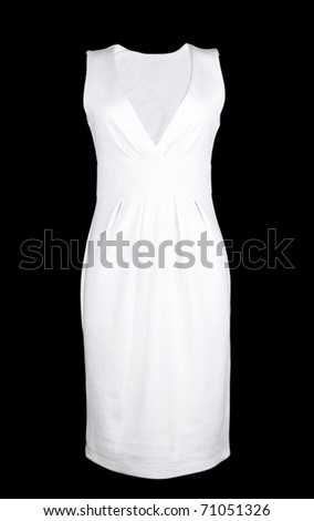 White dress on black background - stock photo