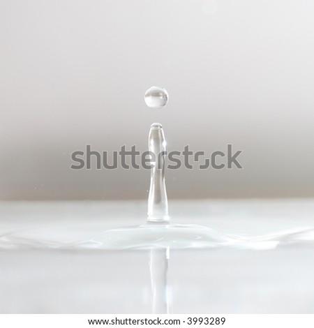 white drop sphere - stock photo