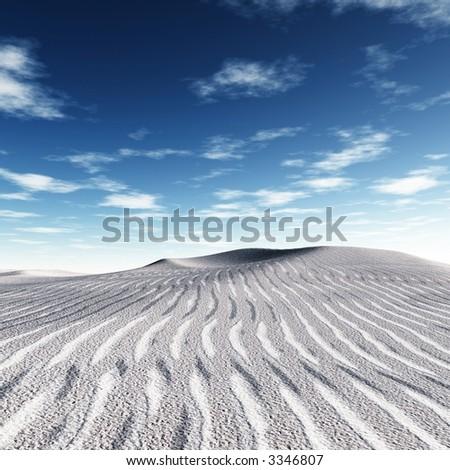 white dunes - stock photo