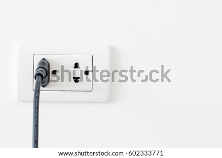 outlet stock images royalty images vectors shutterstock white electric outlet an electrical cord plugged into a socket