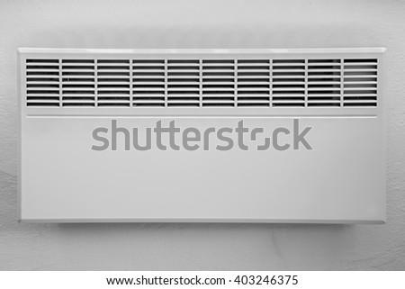 white electric radiator - stock photo
