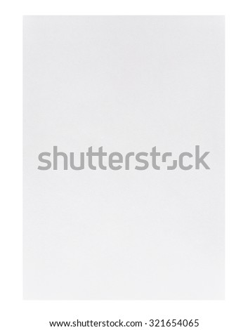 White empty A4 paper isolated on white background - stock photo
