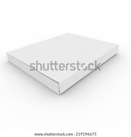 White empty box on an isolated background - stock photo