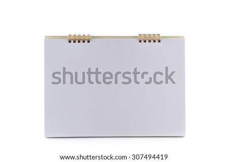 White empty Desk Calendar on white background - stock photo