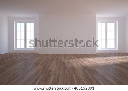white empty interior 3d illustration