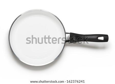 white empty pan - stock photo