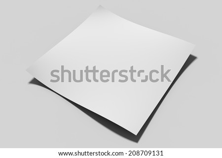 white empty paper in perspective view