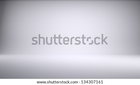 White empty photo studio of a rectangular shape. 3d Render - stock photo