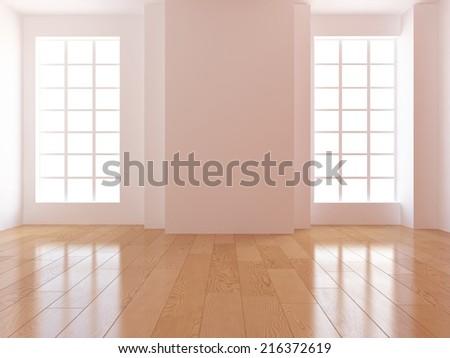 white empty room  - stock photo