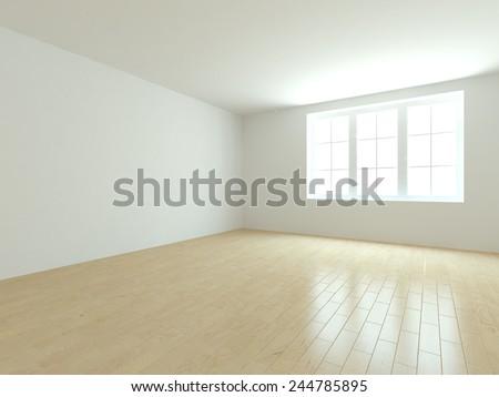 white empty room-3d rendering - stock photo