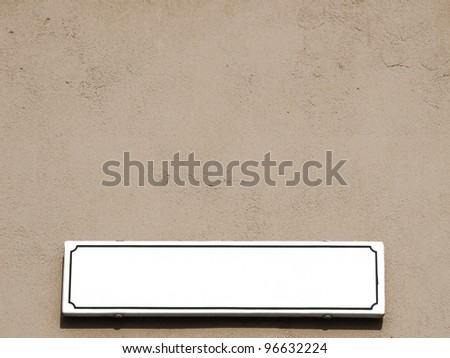White empty street plate - stock photo