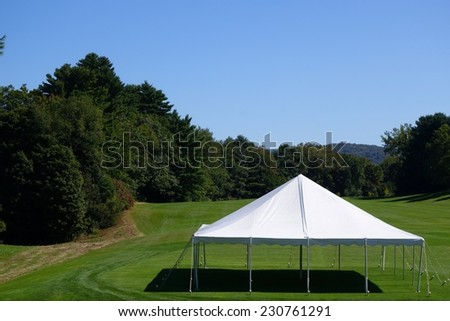 white entertainment tent in the country