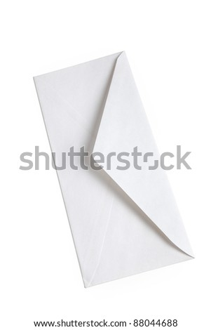 White Envelope with white background